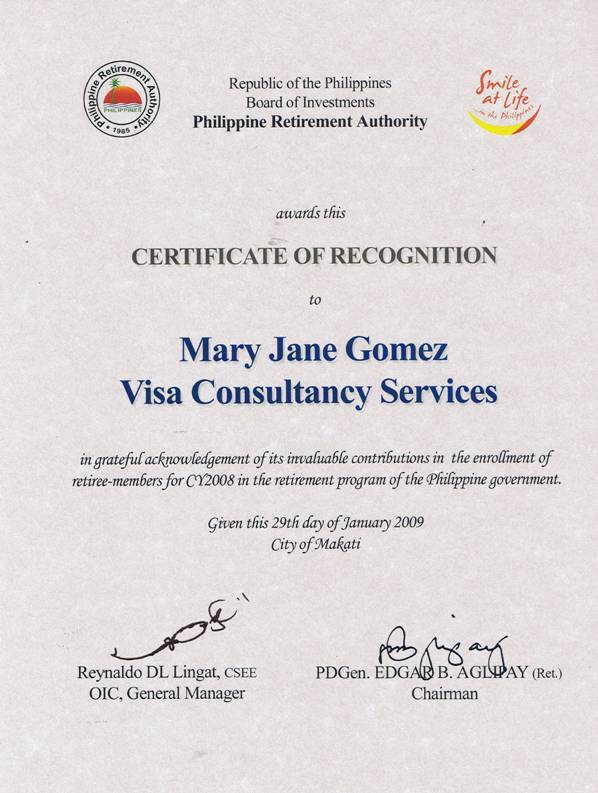 About Mary Jane Gomez Visa Consultancy